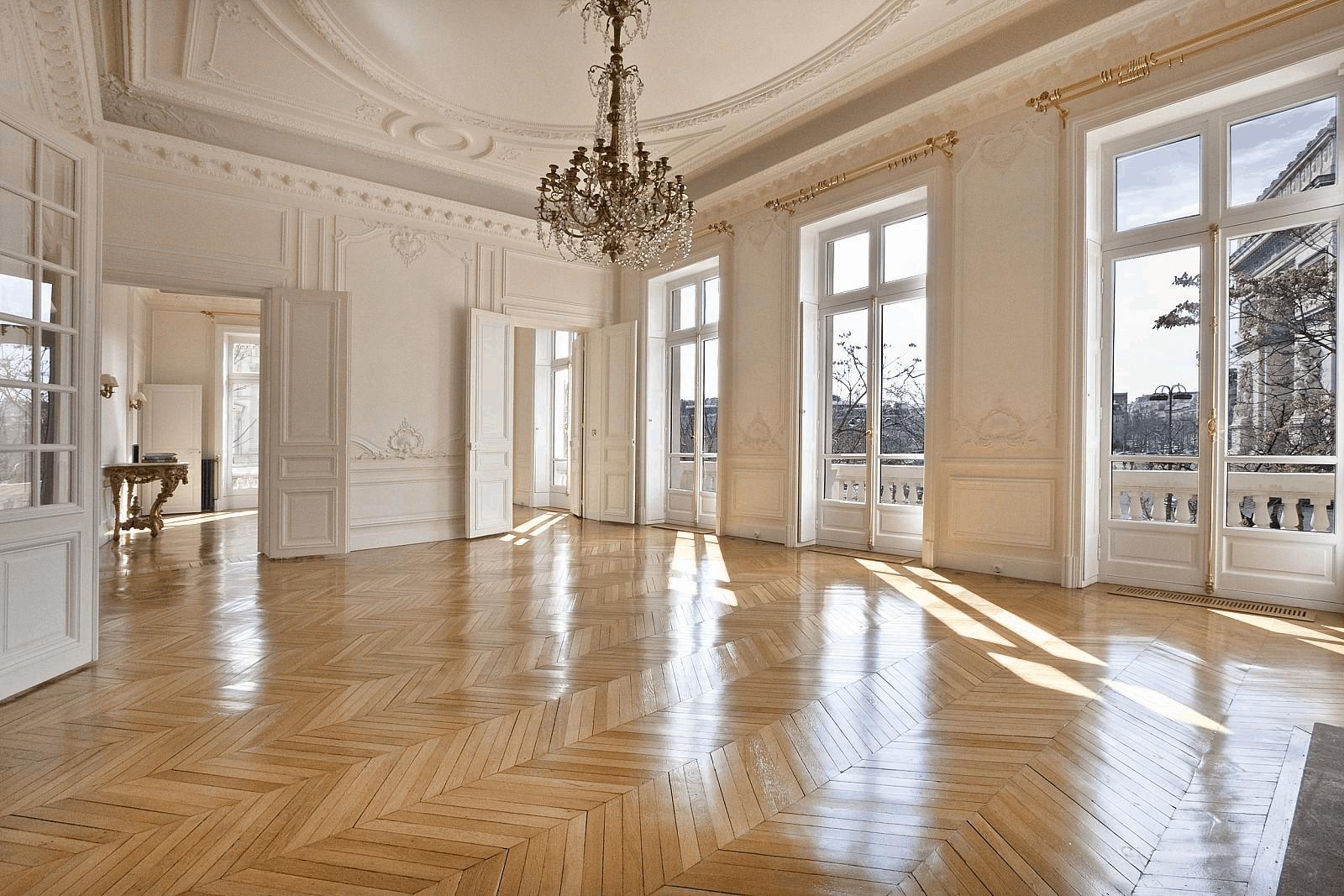 chandelier paris apartment