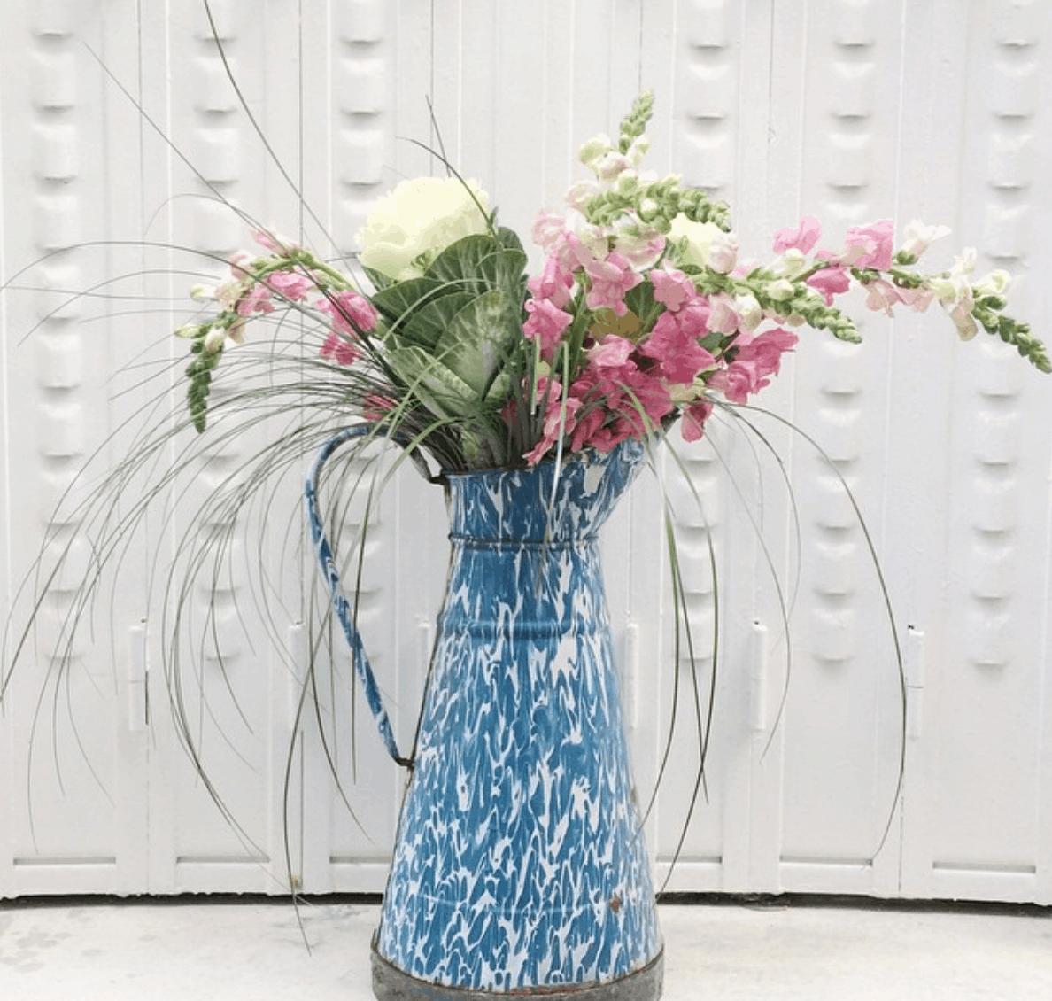 enamelware water jug