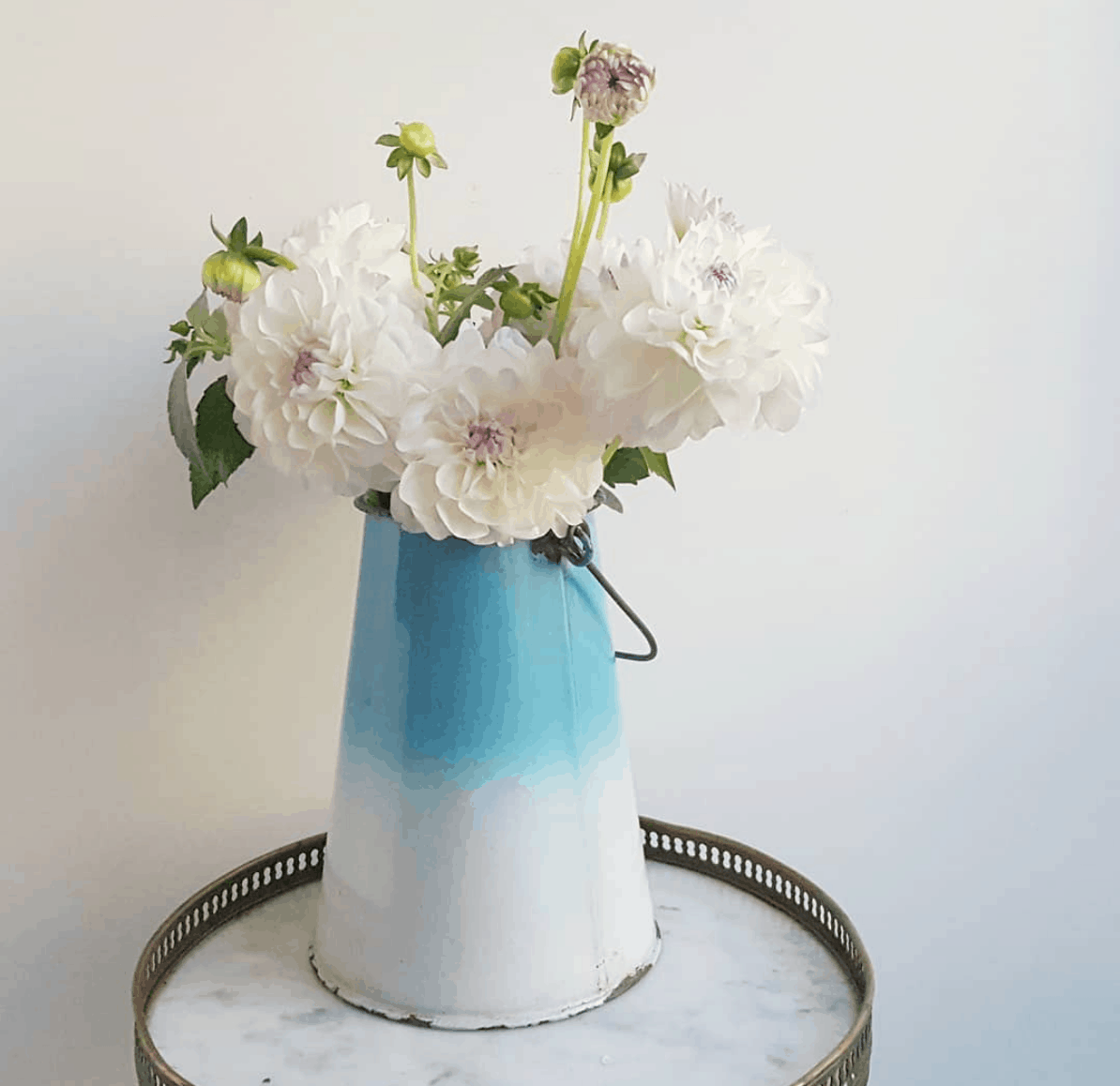 french country kitchen milk pail