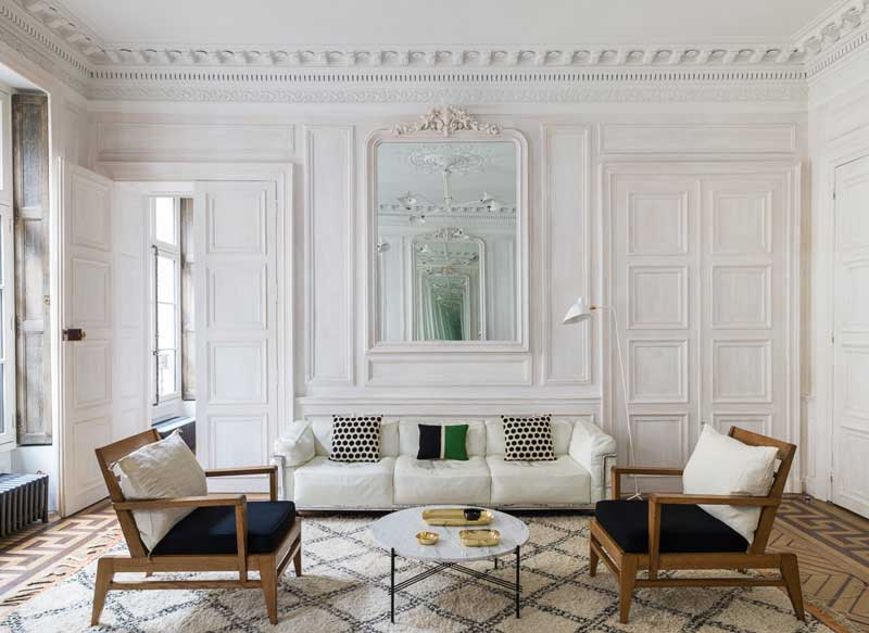 How can I decorate my home like a Parisian moldings