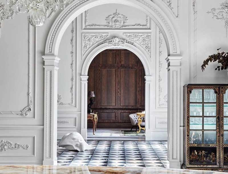 paris apartment interiors moldings