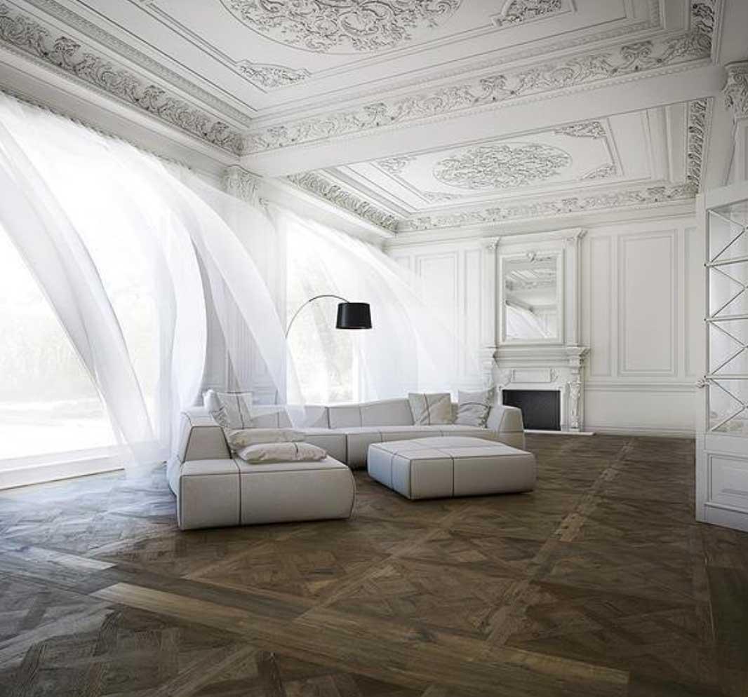paris apartment interiors windows