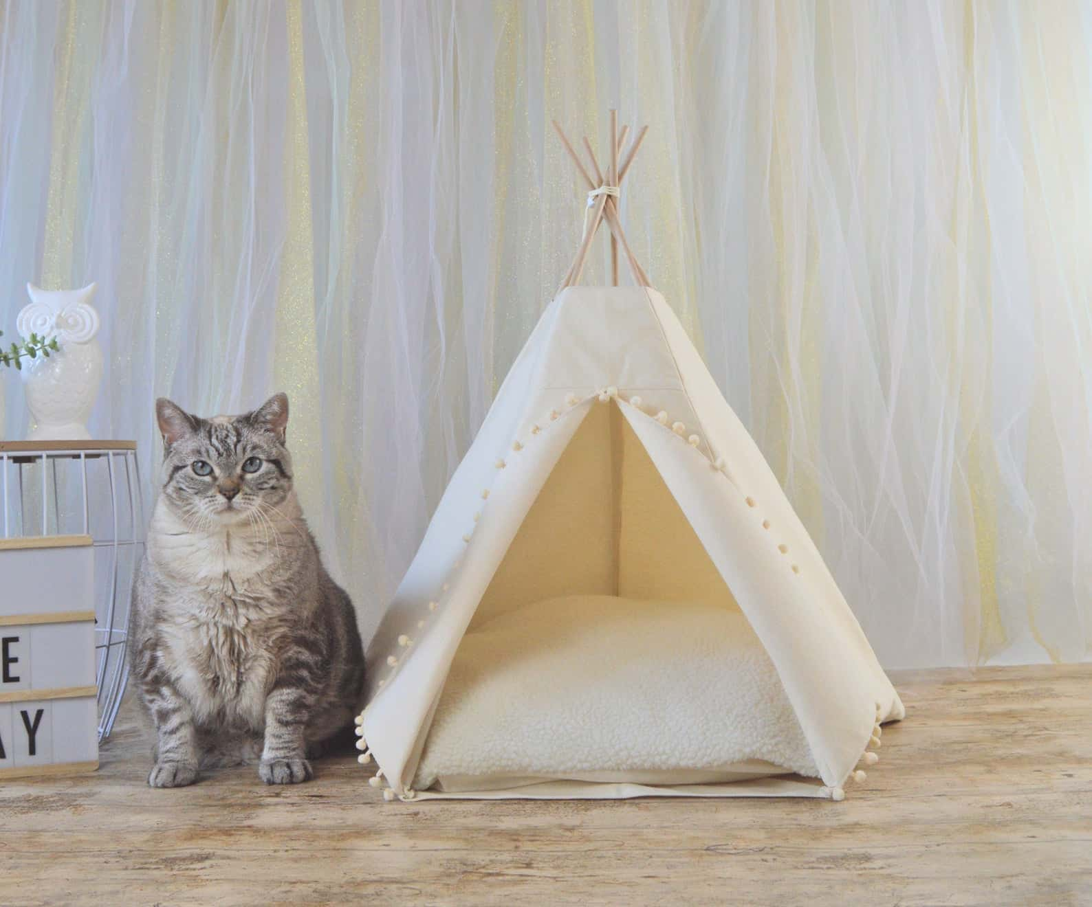 french gifts on etsy - cat teepee
