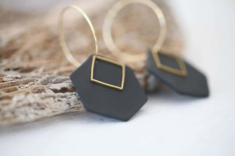 minimalist earrings etsy
